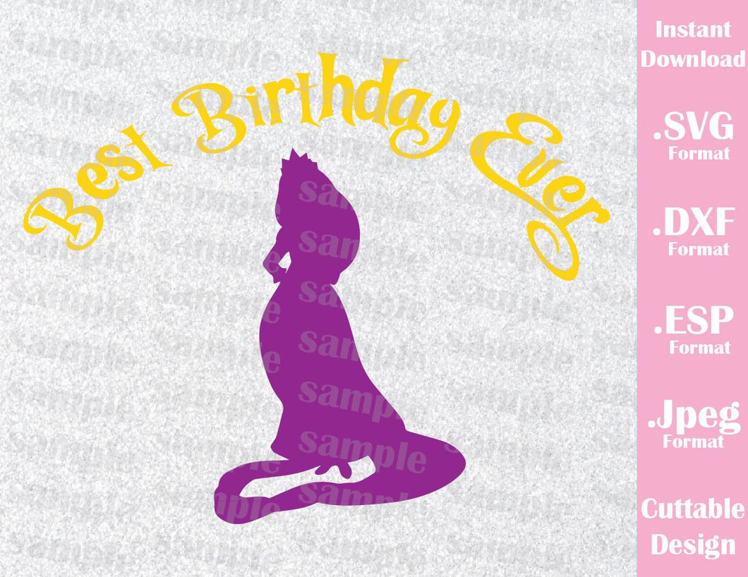 Rapunzel Inspired Quote Best Birthday Ever Cutting File in SVG, ESP, DXF and JPEG Format