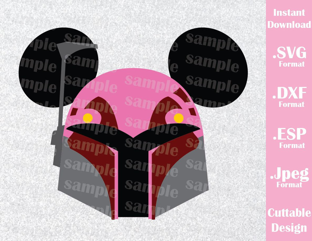 Sabine Mickey Ears Star Wars Disney Inspired Cutting File in SVG, ESP, DXF and JPEG Format