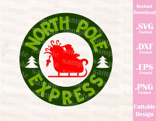 Christmas Santa Postage Stamp, Cutting File in SVG, ESP, DXF and PNG Format for Cricut and Silhouette