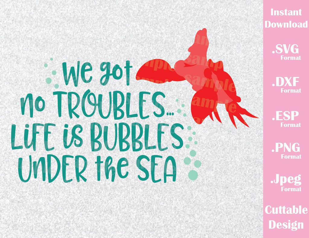 Quotes About Discovery Inspired By The Ocean: Sebastian Quote, Life Is Bubbles Under The Sea, Disney