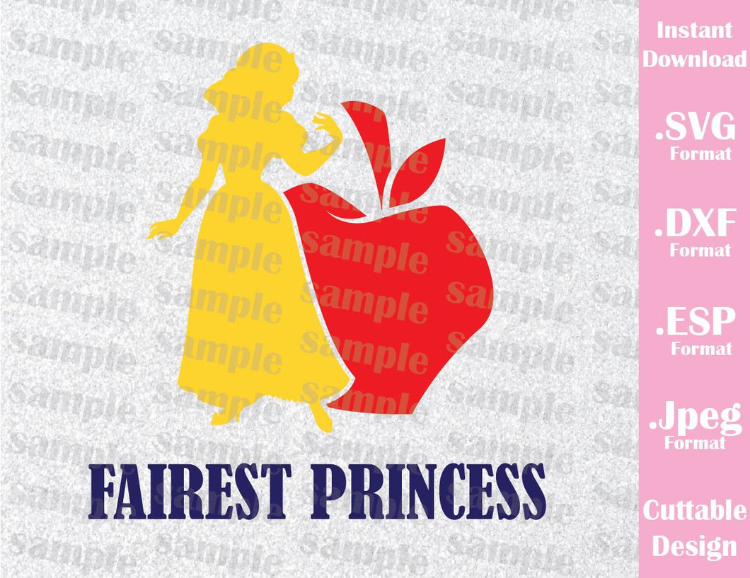 Snow White Princess Quote Inspired Cutting File in SVG, ESP, DXF and JPEG Format