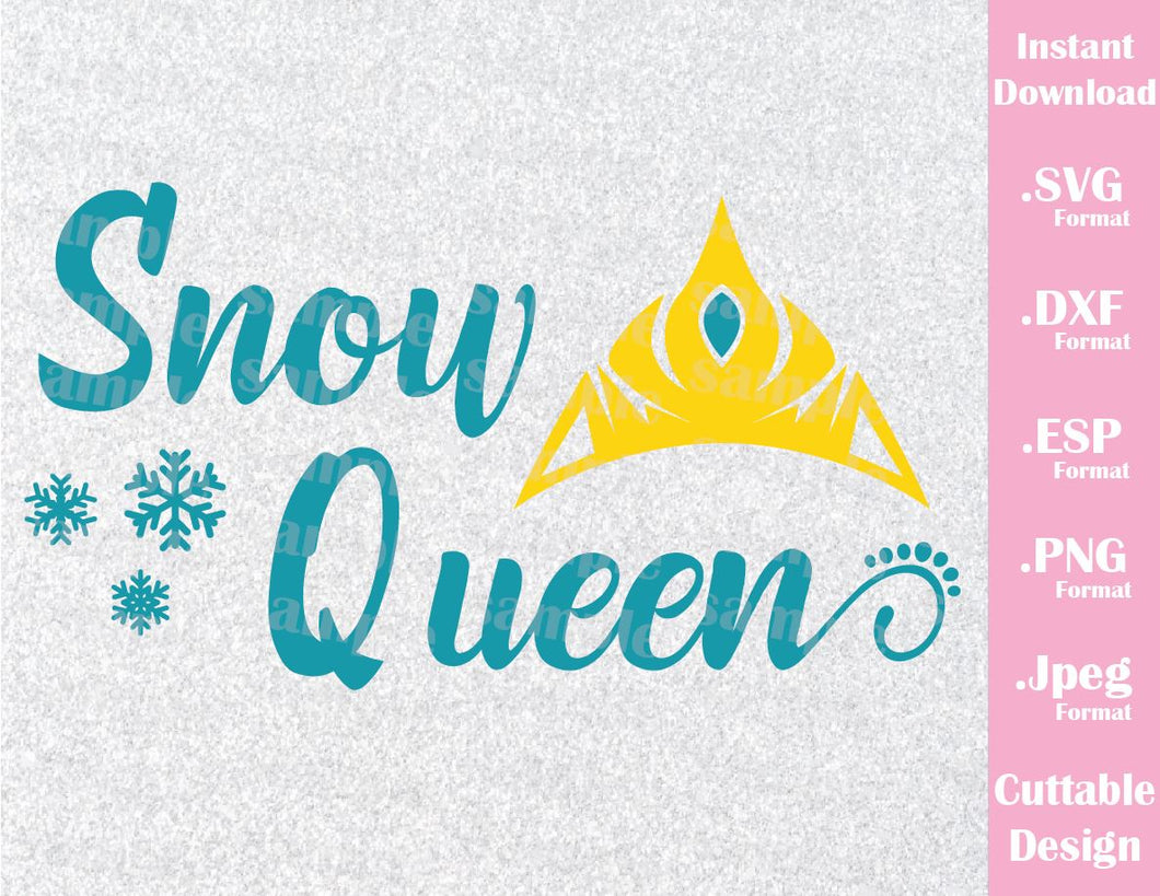 Elsa Snow Queen Quote, Frozen Inspired Cutting File in SVG, ESP, DXF, PNG and JPEG Format for Cutting Machines