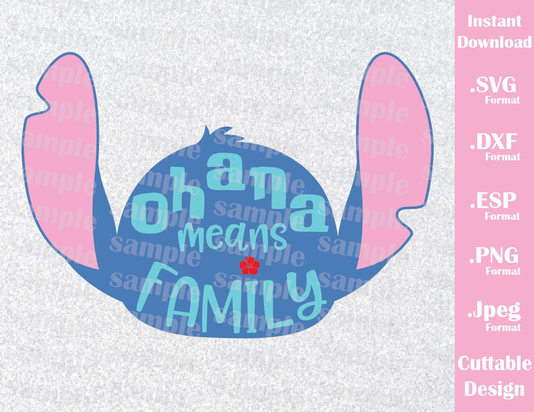 Disney Inspired Stitch Quote Ohana Means Family Lilo And Stitch