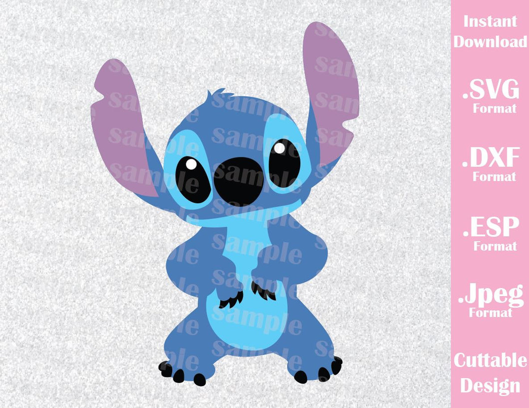 Stitch from Lilo and Stitch Inspired Cutting File in SVG, ESP, DXF and JPEG Format
