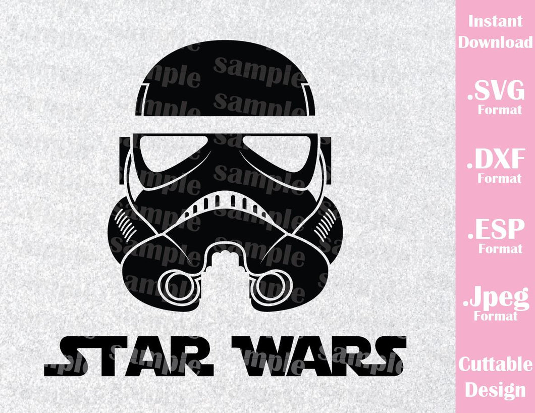 Stormtrooper Star Wars Disney Inspired Cutting File in SVG, ESP, DXF and JPEG Format