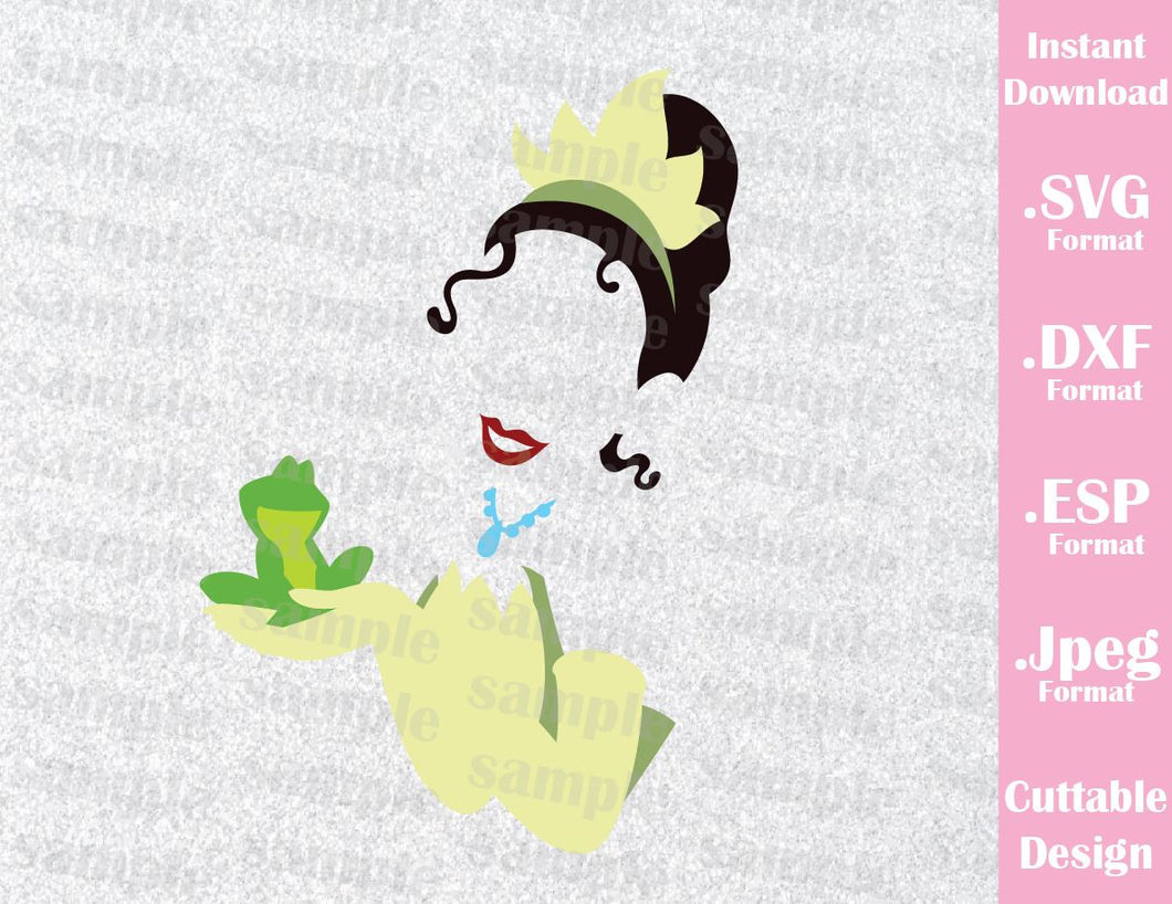 Tiana Princess and the Frog Inspired Cutting File in SVG, ESP, DXF and JPEG Format