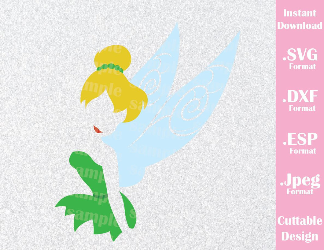 Tinkerbell Neverland Inspired Cutting File in SVG, ESP, DXF and JPEG Format