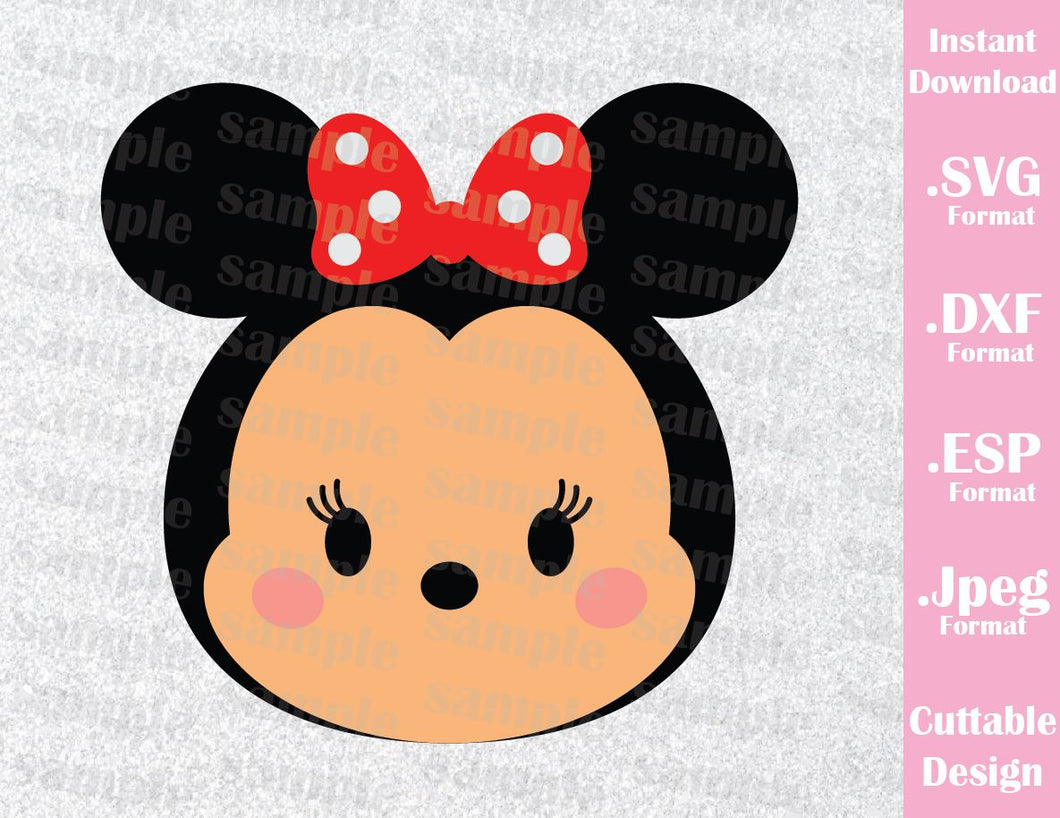 Minnie Tsum Tsum Inspired Cutting File in SVG, ESP, DXF and JPEG Format