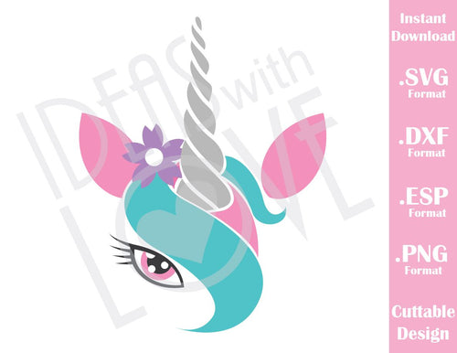 Unicorn Girl Cutting File in SVG, ESP, DXF and PNG Format for Cricut and Silhouette Machines