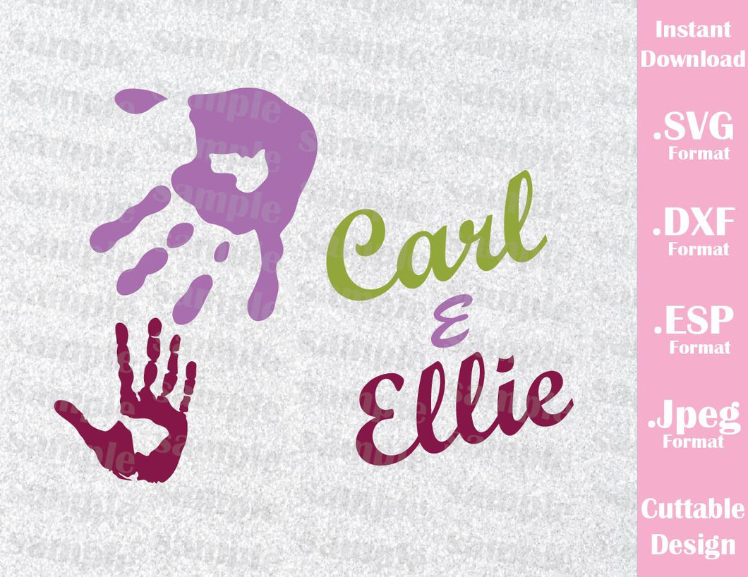 Up Hands Quote Carl and Ellie Inspired Cutting File in SVG, ESP, DXF and JPEG Format