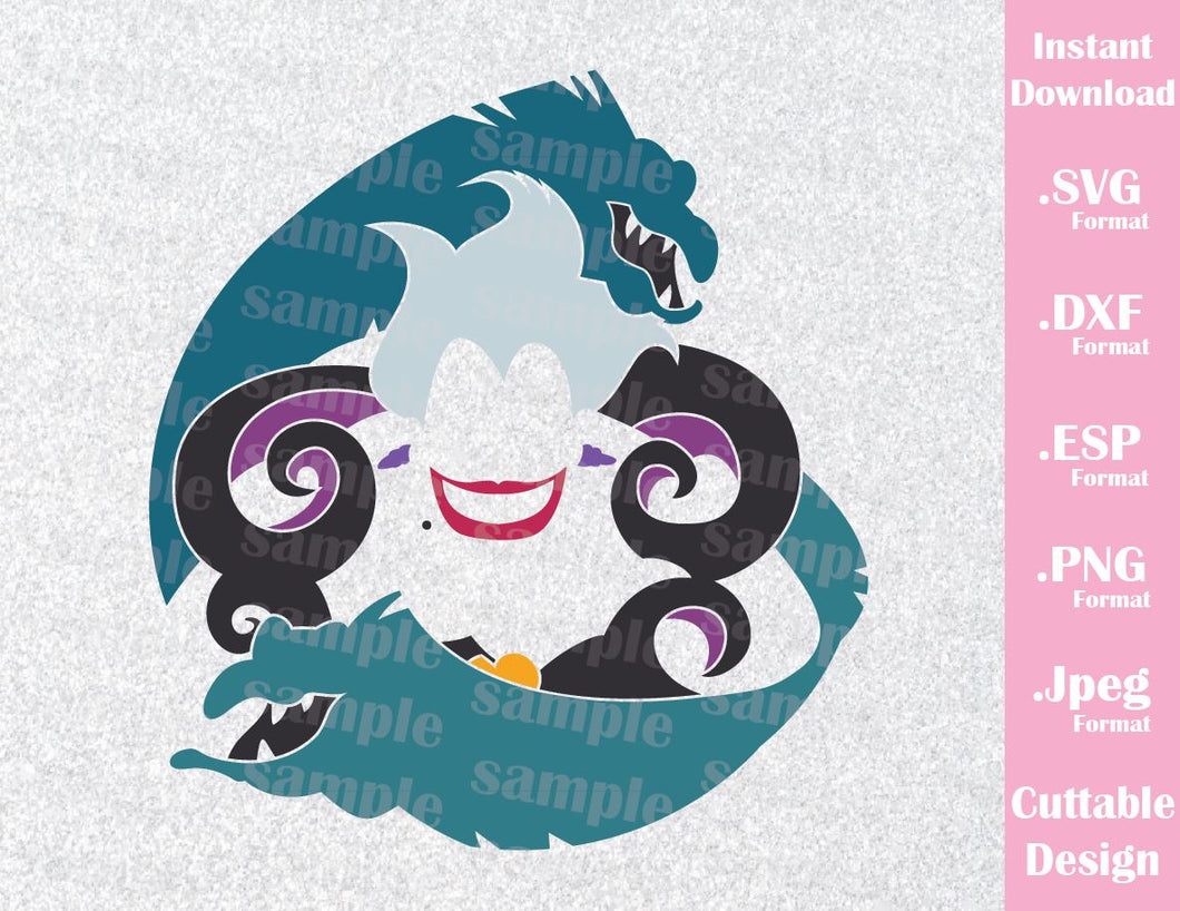 Ursula, Flotsam and Jetsam, Villain Inspired Cutting File in SVG, ESP, DXF, PNG and JPEG Format