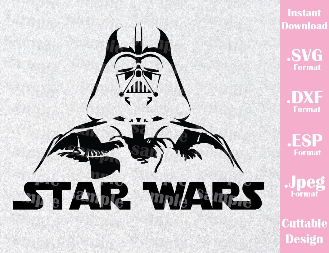 Darth Vader Star Wars Inspired Cutting File in SVG, ESP, DXF and JPEG Format