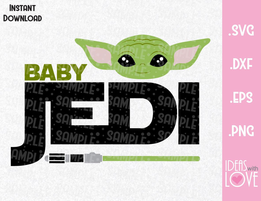 Yoda Jedi Baby Inspired SVG, EPS, DXF, PNG Format