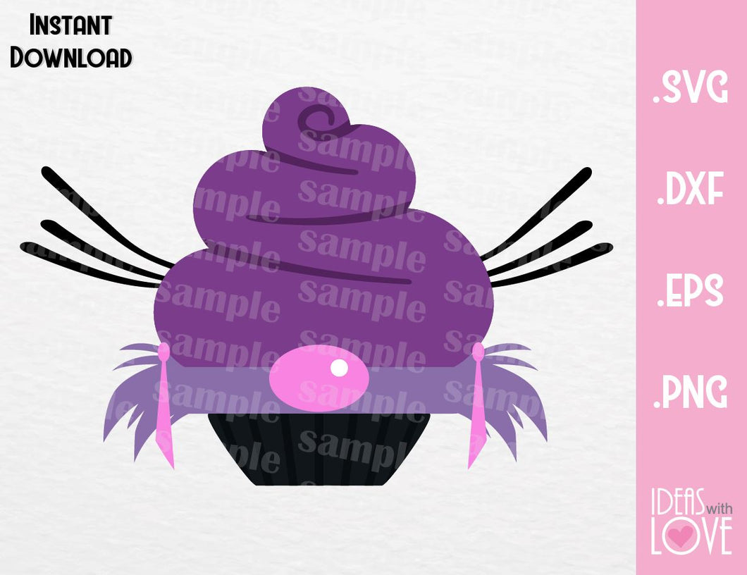 Yzma Cupcake Villain Inspired Cutting Machines File in SVG, EPS, DXF and Png Format