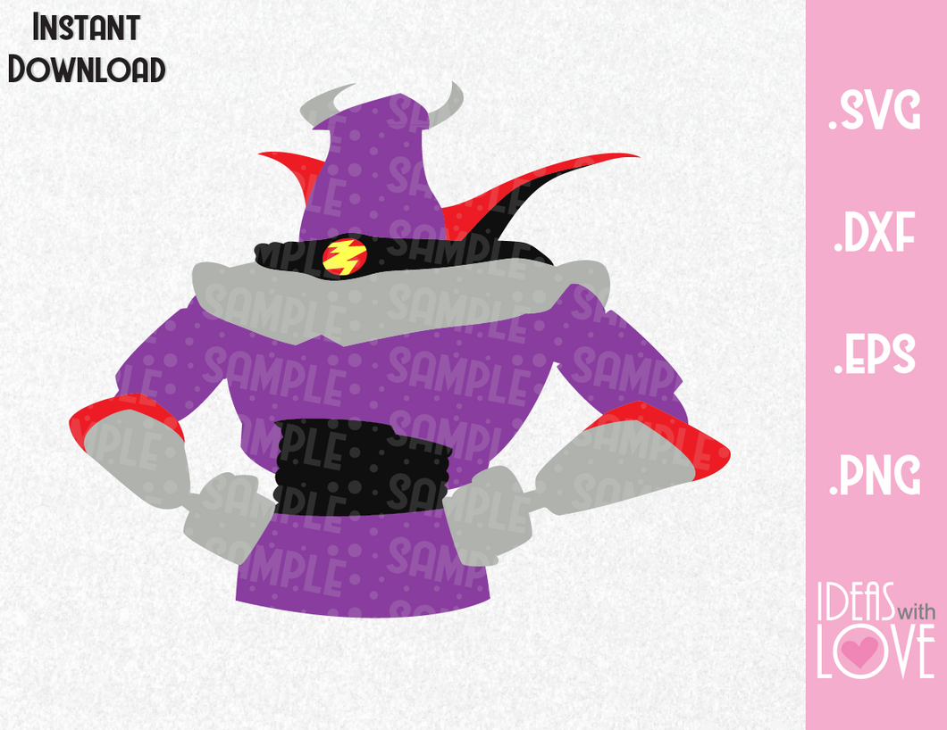 Zurg Toy Story Villain Inspired SVG, EPS, DXF, PNG