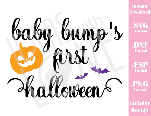 Mommy Baby Bump First Halloween Baby Kids Cutting File in SVG, ESP, DXF and PNG Format for Cricut and Silhouette