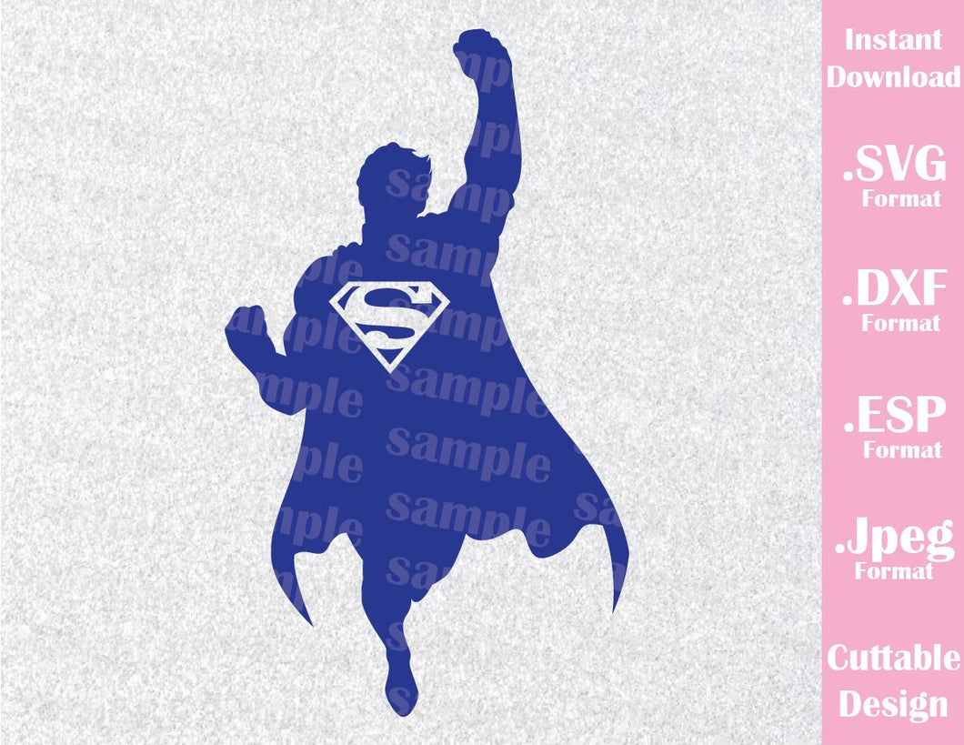 Superman Superhero Inspired Cutting File in SVG, ESP, DXF and JPEG Format