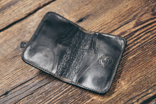 Interior of authentic American alligator wallet, with six pockets.