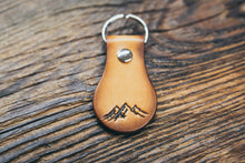 Hand-crafted mountain leather key fob