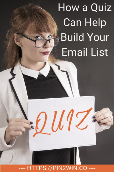 How a Quiz Can Help Build Your Email List