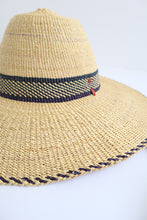 Handwoven Sun Hat - Navy Detail | Style 1