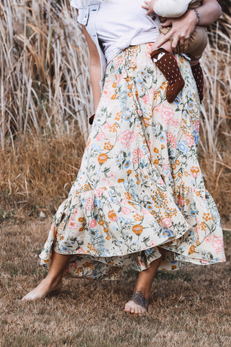 Florence Maxi Skirt California Poppy