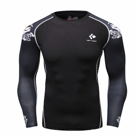 Men Compression Shirts MMA Rashguard