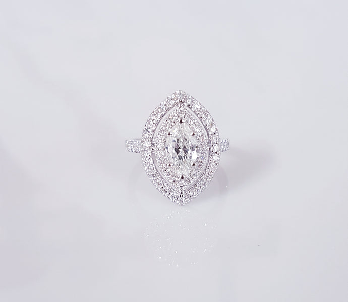 Imperial Halo Diamond Ring