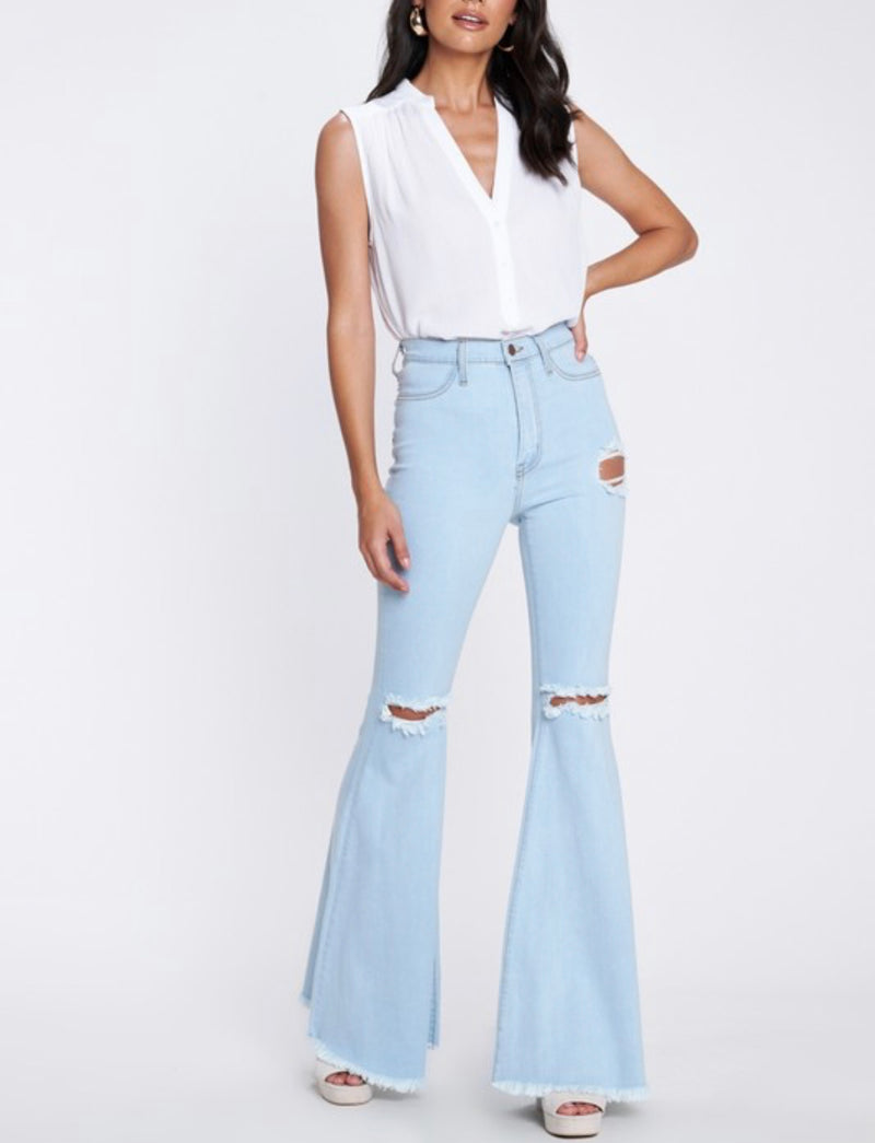 Stagecoach Light Stone Bell Bottoms