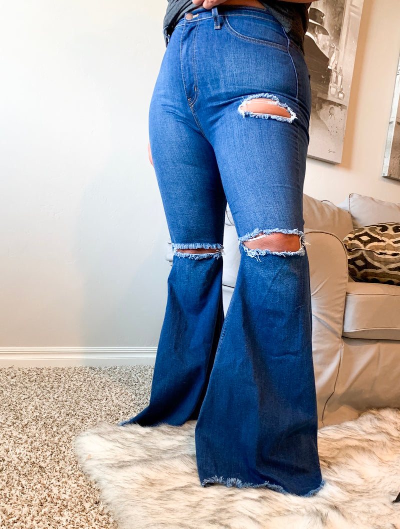 Wildcard Denim Bell Bottoms