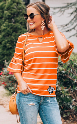 Go With The Flow Stripe Game Day Top
