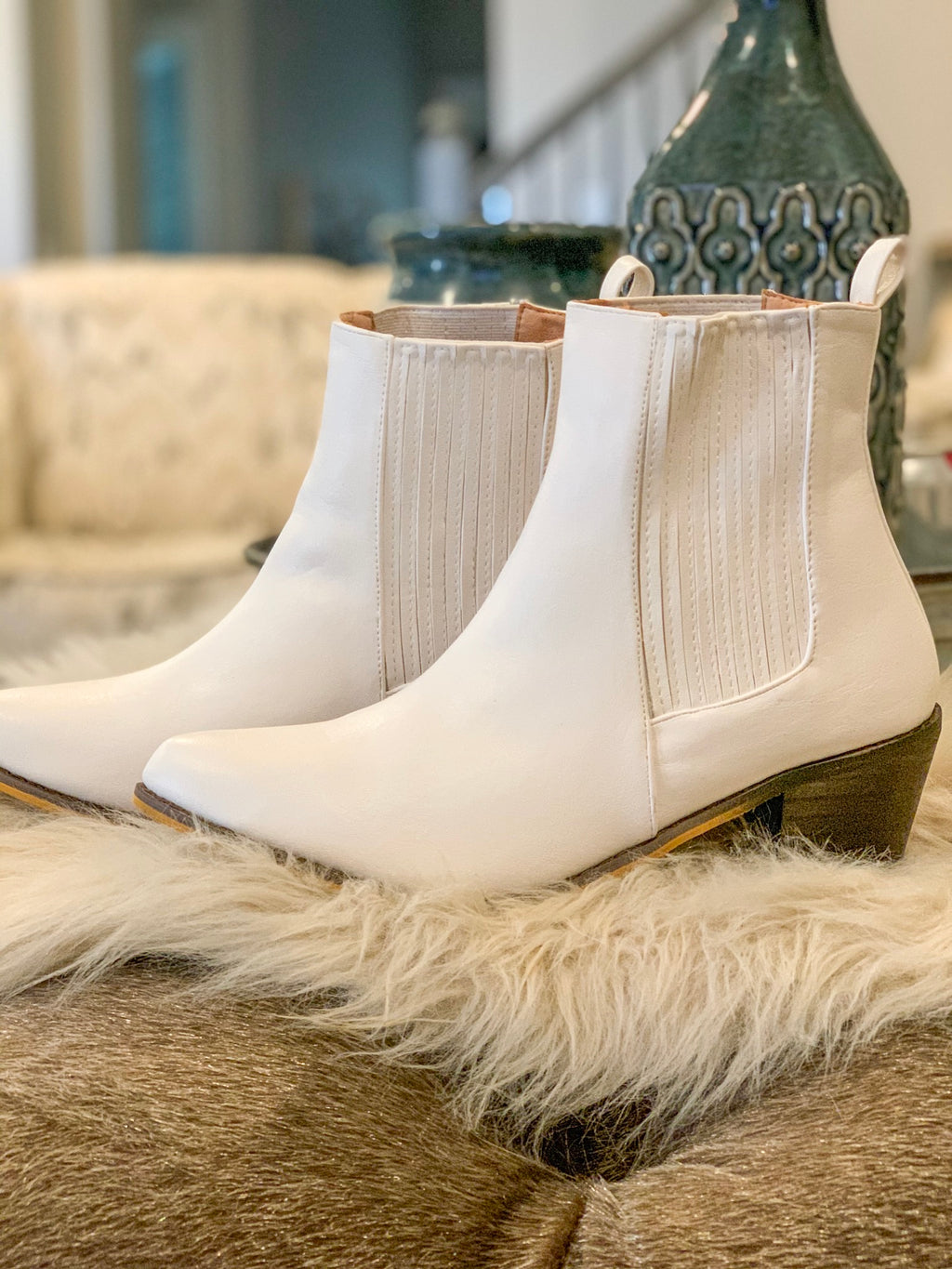 Tanya Tucker White Booties