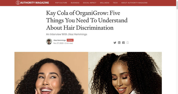 Medium / Authority Mag | OrganiGrowHairCo