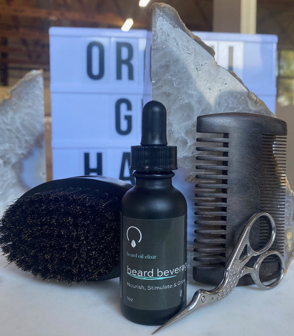 Beard Grooming Kit with Beard Beverage Oil - OrganiGrowHairCo