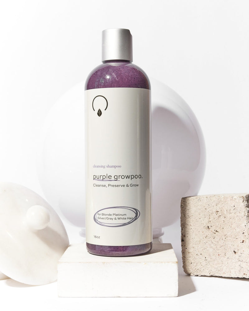 Purple GrowPoo Purple Shampoo 16oz - OrganiGrowHairCo