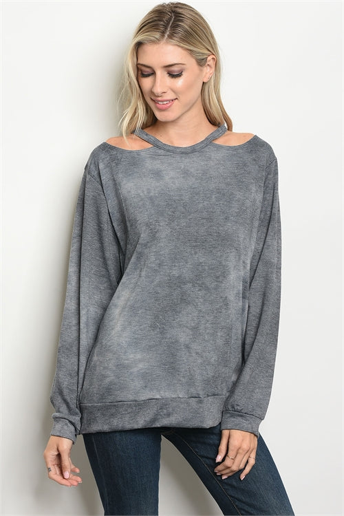 Charcoal Mineral Wash Cutout Top