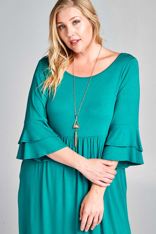 Emerald Babydoll Swing PLUS SIZE Dress