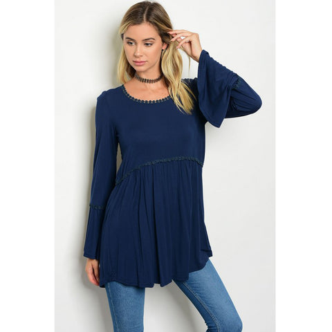 Blue Bell Sleeves Babydoll Boutique Top