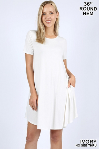 White Scoop Sleeveless Tunic Top