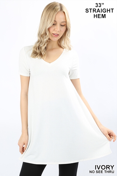 White V Neck Sleeveless Tunic Top