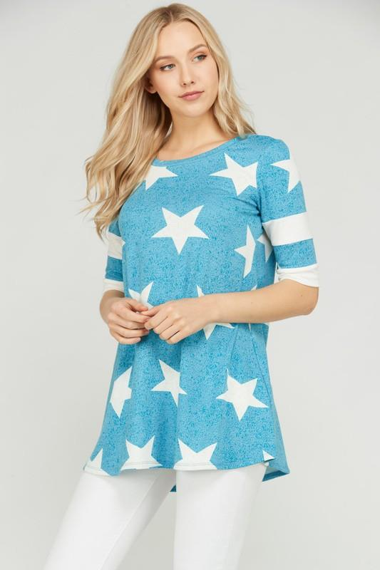 Blue Star Tunic Top