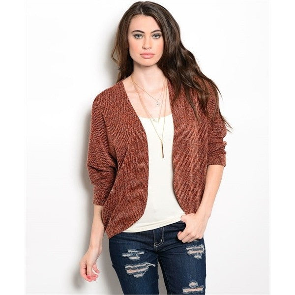Cozy Cardigan in Rust