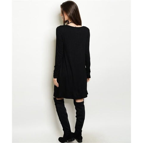 Black Front Pocket Dress