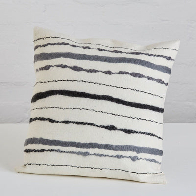 klaylife Hand Felted Chunky Stripe Cushion