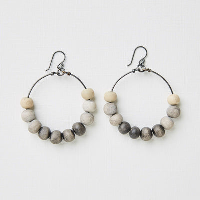 "Clay Bead Earrings ""Langa"""