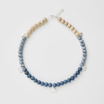 "Clay Bead Necklace ""Ayize"""