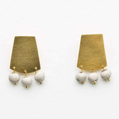 Azizi - Short Shield Earrings