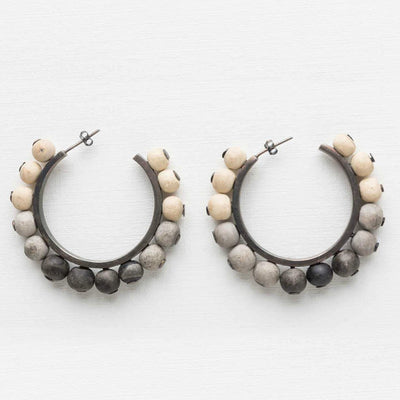 "Clay Bead Earrings ""Thadie"""