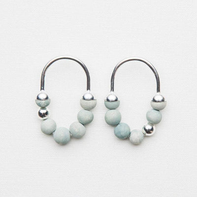 Zola - Short Earrings - Pale Seaspray / Silver