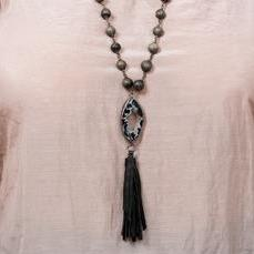 "Clay Bead Necklace ""Mhambi"""